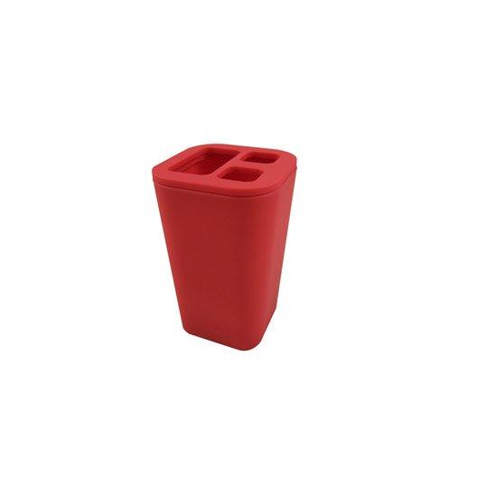 Porte brosse dents charlie rouge rouge 5 leroy merlin - Porte brosse a dents ...
