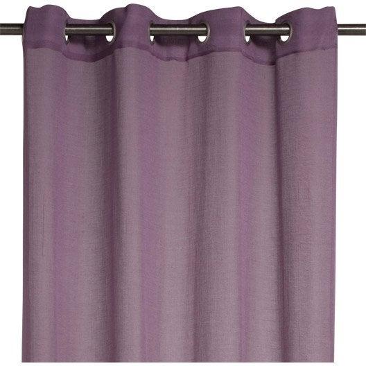 voilage lol inspire violet tulipe n 2 140 x 260 cm. Black Bedroom Furniture Sets. Home Design Ideas