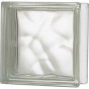 Brique de verre, transparent ondulé brillant