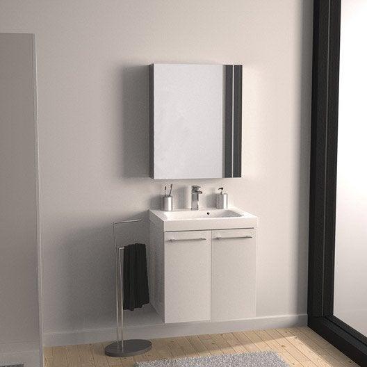 Meuble vasque 61 cm remix leroy merlin for Monter meuble salle de bain