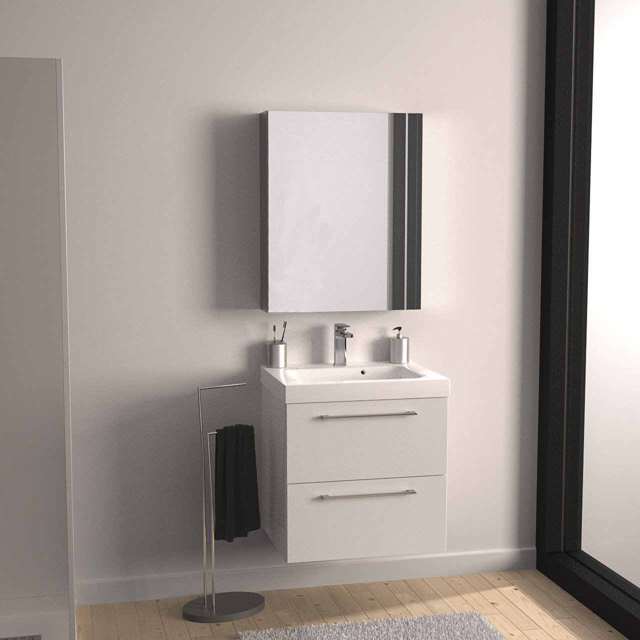 meuble vasque 61 cm blanc remix leroy merlin. Black Bedroom Furniture Sets. Home Design Ideas