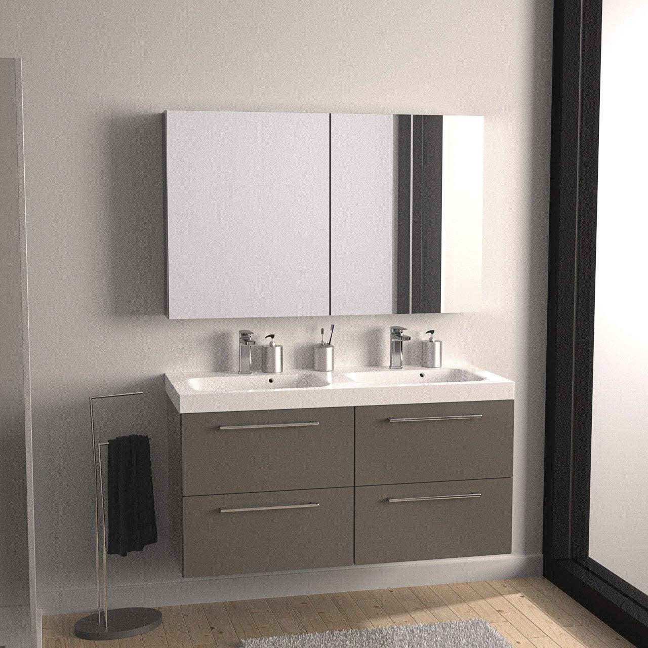 meuble salle de bain remix taupe