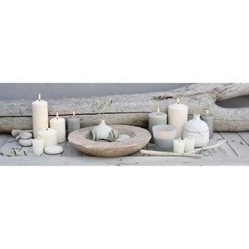 Toile lumineuse led bougies et bois 90 cm x 30 cm for Miroir 90x30