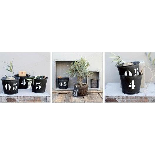 Lot de 3 affiche contre coll e pots numerot s 60x20 cm for Miroir 90x30