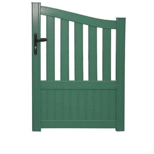 portillon battant naterial moellan x cm vert. Black Bedroom Furniture Sets. Home Design Ideas