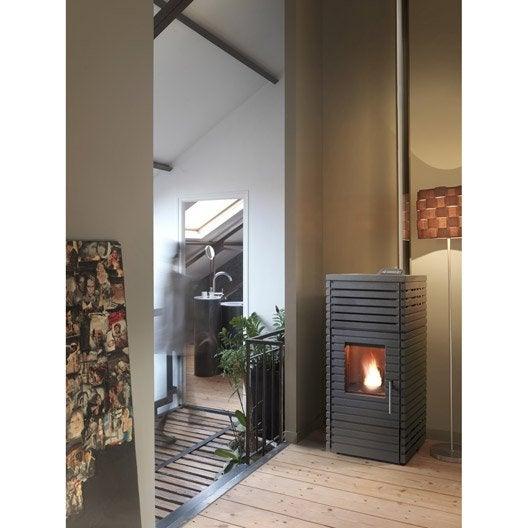 po le granul s invicta pyra noir 8 kw. Black Bedroom Furniture Sets. Home Design Ideas