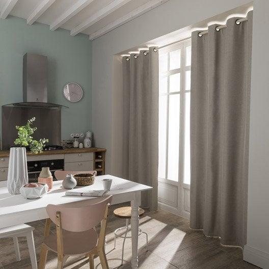 rideau etretat taupe x cm leroy merlin. Black Bedroom Furniture Sets. Home Design Ideas