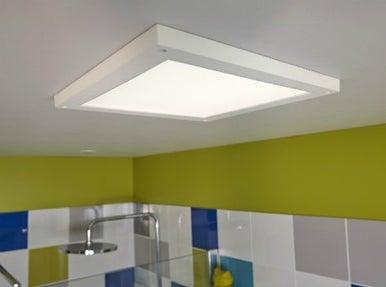 Panneau lumineux led leroy merlin for Carrelage adhesif salle de bain avec projecteur ampoule led