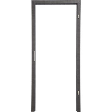 Kit ébrasement pour porte londres 63 cm, poussant droit décor chêne grisé