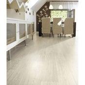 Sol PVC blanc wood Balance blue l.4 m