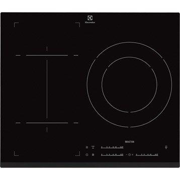 Plaque induction 3 foyers, noir, ELECTROLUX E6853FOK