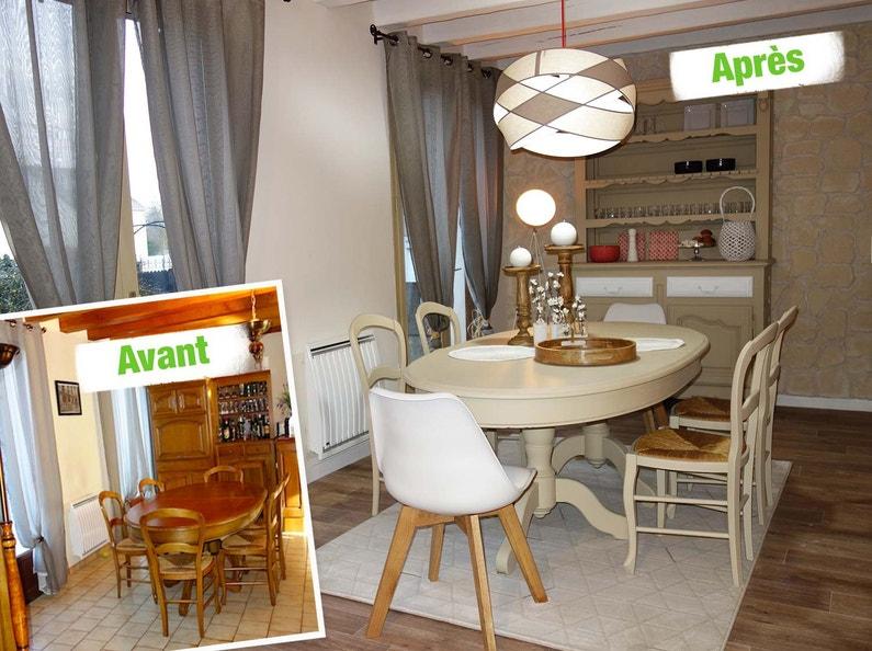 relooking de la salle manger avec des couleurs claires. Black Bedroom Furniture Sets. Home Design Ideas
