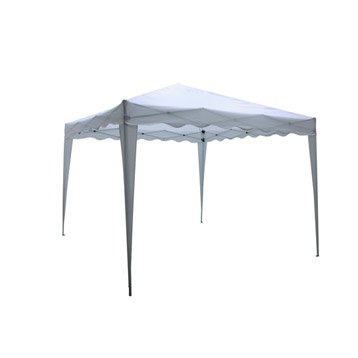 Tente autoportante Pliable, acier blanche, 9 m²