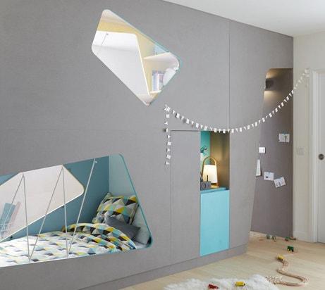 Donner du style à une chambre d'enfant avec un sol naturel et des tons bleu et gris