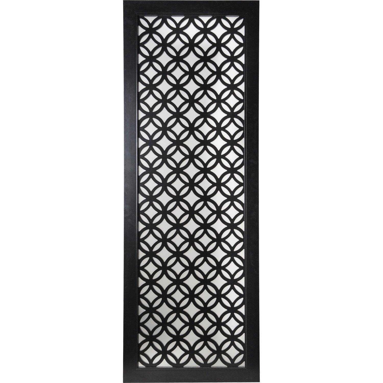 Porte coulissante noir nath artens x cm for Charniere porte verre leroy merlin