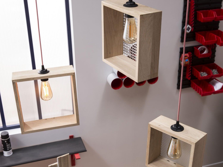 diy cr er une suspension perfor e leroy merlin. Black Bedroom Furniture Sets. Home Design Ideas