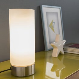 Lampe tactile, e27 Tee touch INSPIRE, verre blanc, 60 W