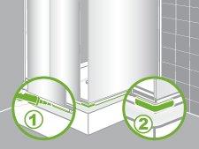 Comment installer une paroi de douche d 39 angle ou de face for Monter une porte de douche