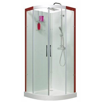 Cabine de douche Thalaglass 2 simple thermostatique 1/4 de cercle 90x90 cm