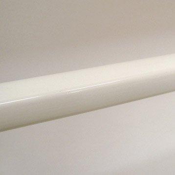 Lot de 5 lisses pour garde-corps TIERAL aluminium blanc H.206 x l.2.5 cm