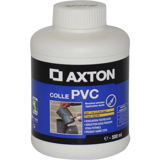 Colle pour pvc axton 250 ml blanc leroy merlin - Colle pour lambris pvc ...