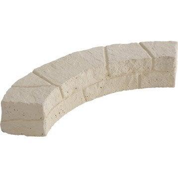 Bordure courbe Cévennes pierre reconstituée naturel, H.11 x L.60 cm