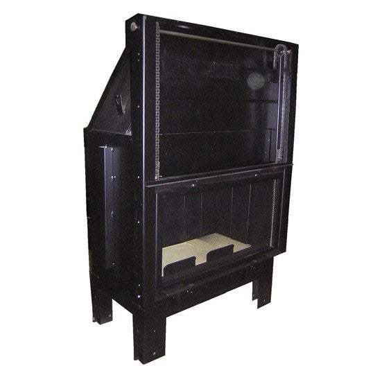 insert bois fa ade droite vesuvio e1000 15 kw leroy merlin. Black Bedroom Furniture Sets. Home Design Ideas