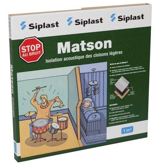 Dalle en mat riaux visco lastiques matson monarflex for Insonorisation mur exterieur