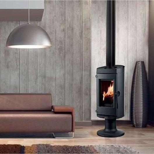 po le bois supra lytham lift noir 7kw leroy merlin. Black Bedroom Furniture Sets. Home Design Ideas