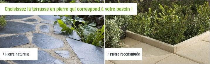 Choisissez la terrasse en pierre qui correspond à votre besoin !