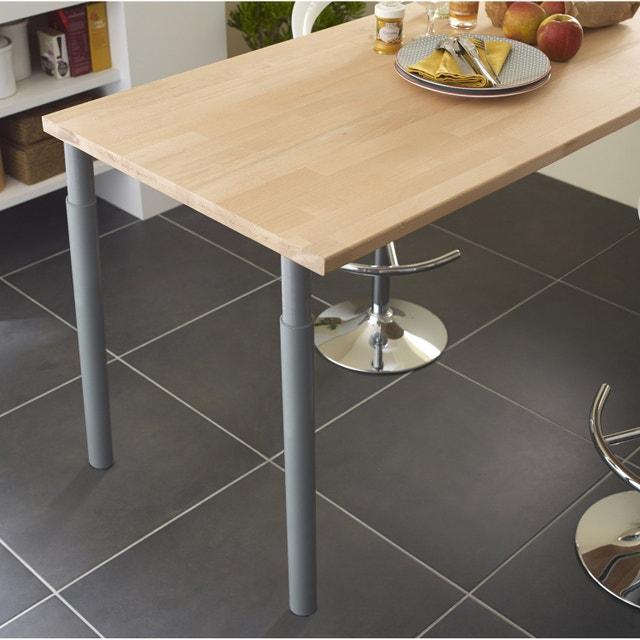 table de cuisine fabriqu e avec un plan de travail leroy. Black Bedroom Furniture Sets. Home Design Ideas