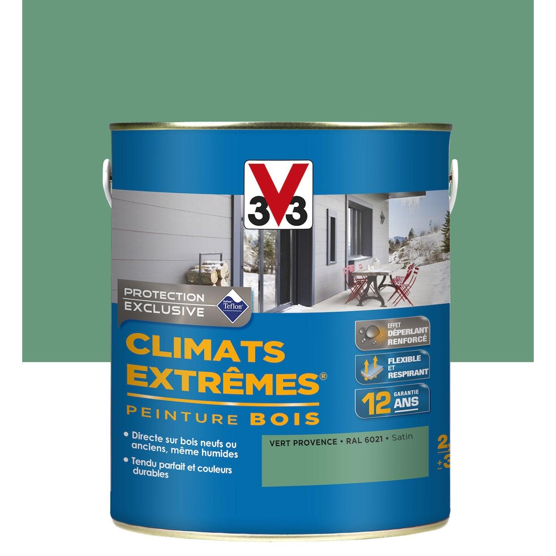 Peinture Bois Exterieur Climats Extremes V33 Vert Provence 2 5 L