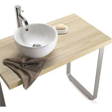 Lavabo vasque et plan vasque pour salle de bains meuble for Plan de travail pour salle de bain leroy merlin