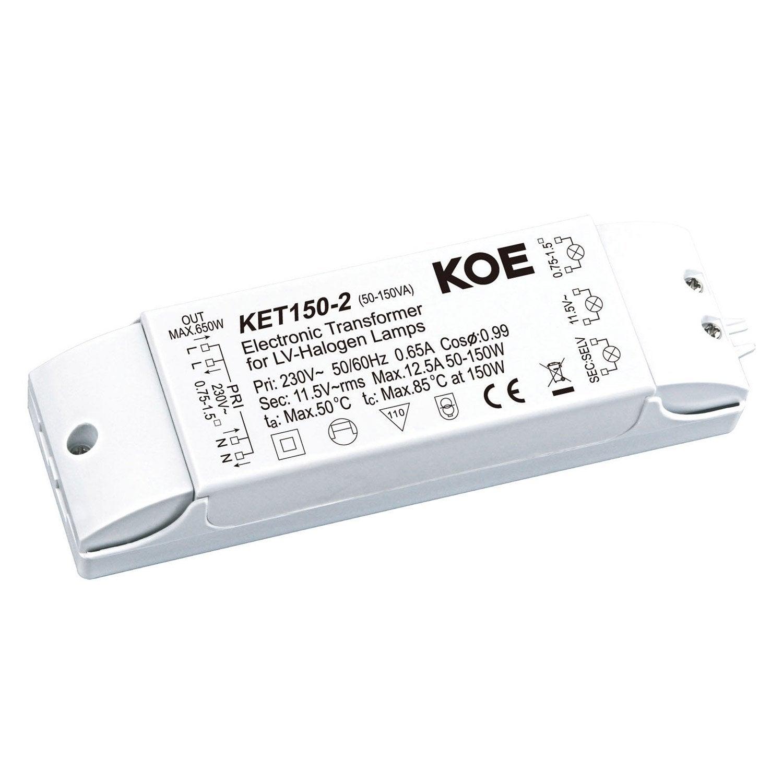 Électronique éclairage Transformateur 230 V à 12 V 60Va 15 W max pour Basse Tension Halogène