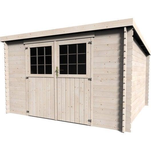 Abri de jardin en bois 8 16m2 ep 28mm mod le elan for Garage a domicile 78