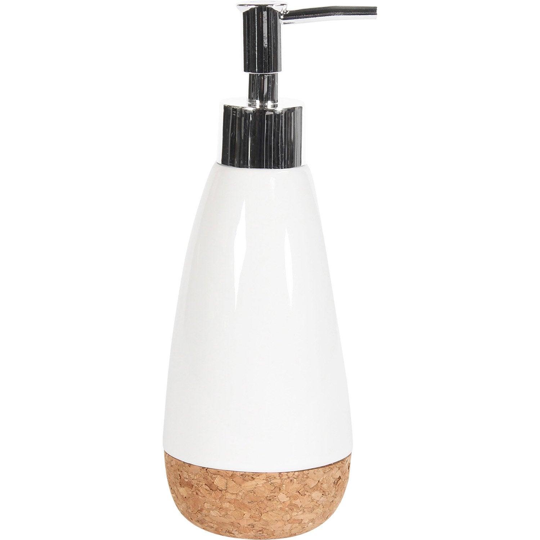Distributeur de savon céramique Odemira, blanc