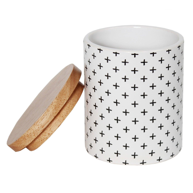 Boîte céramique Cross, gris zingué 1, blanc