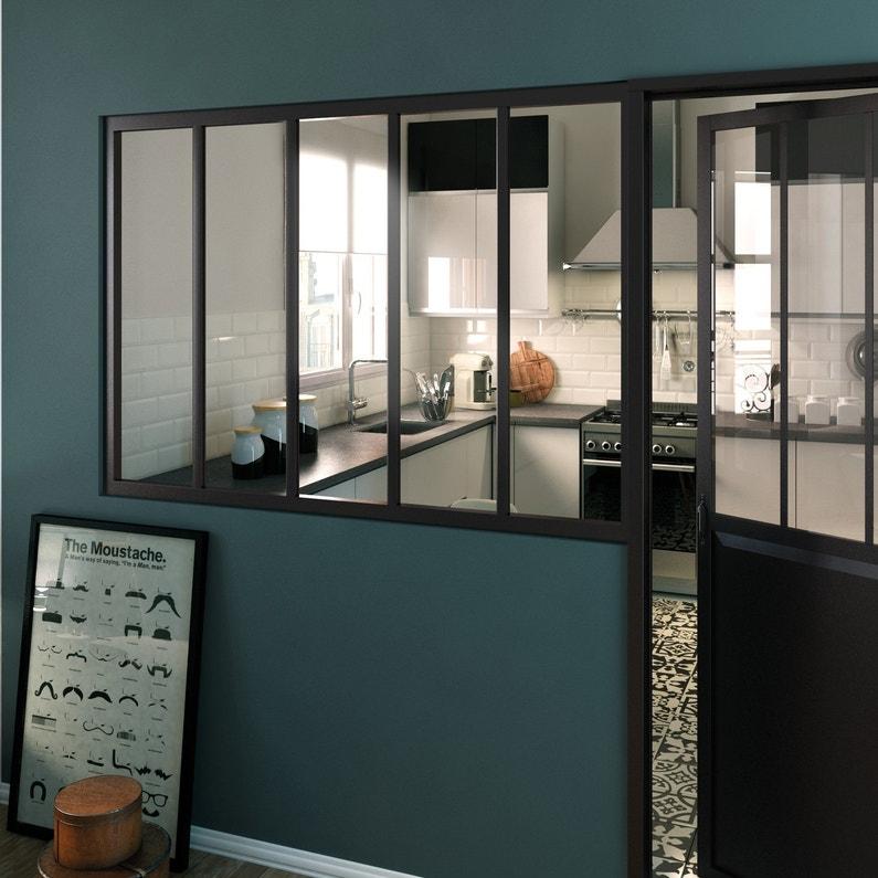 Une verri re d 39 atelier pour la cuisine leroy merlin - Cloison industrielle vitree ...