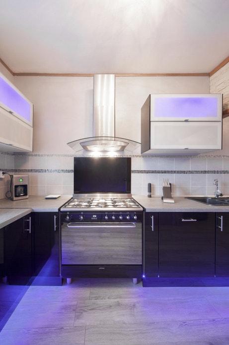 La cuisine noire design de Pascale à Chaumont-en-Vexin