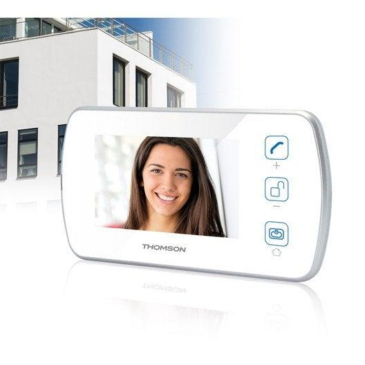 Interphone et visiophone sonnette sans fil leroy merlin - Visiophone somfy v400 ...
