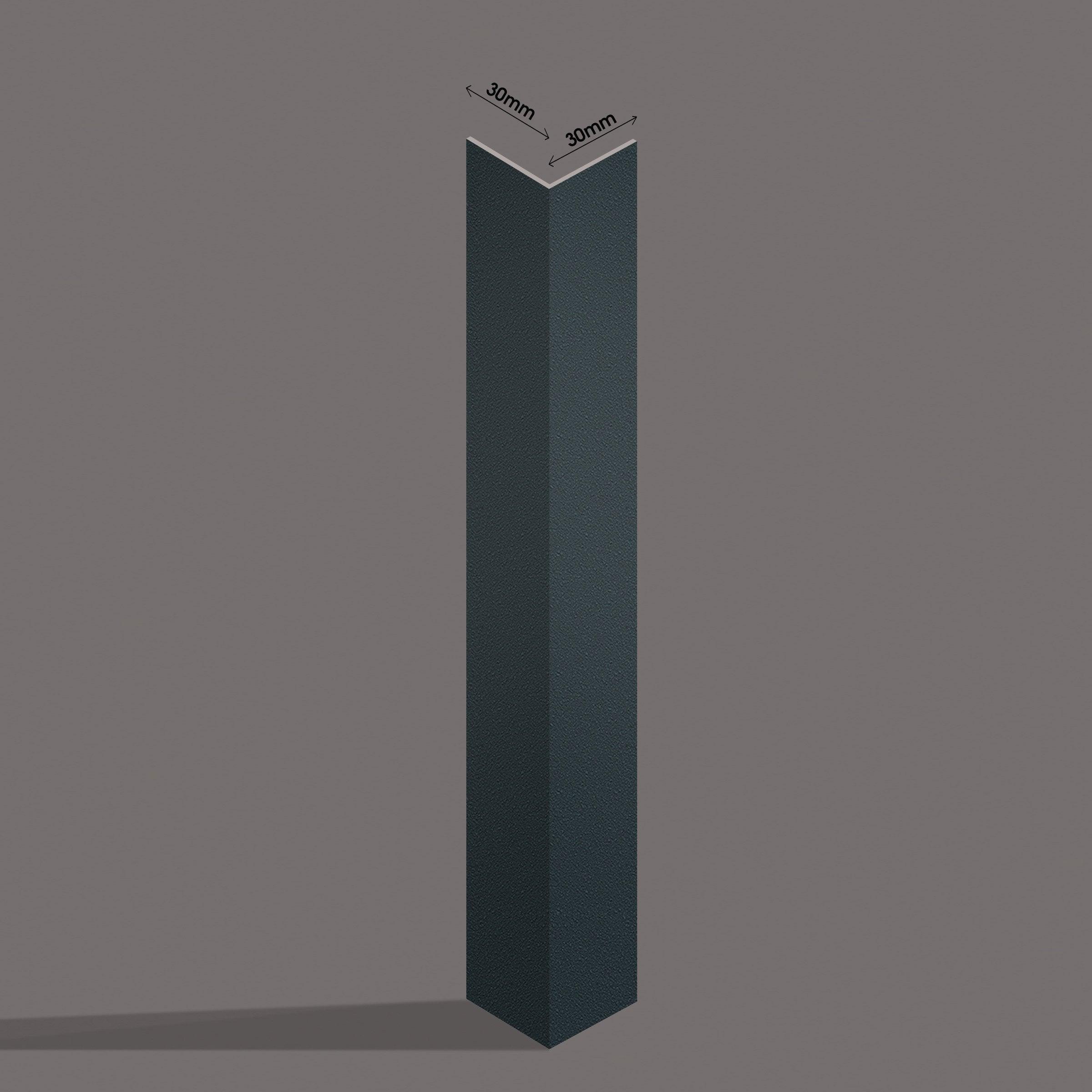 Espace Entre Porte Et Carrelage kit de finition pour porte d'entrée essentiel gris, h.220 x l.100 cm p.30 mm