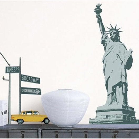 Sticker statue de la libert 49 cm x 69 cm leroy merlin - Stickers new york leroy merlin ...