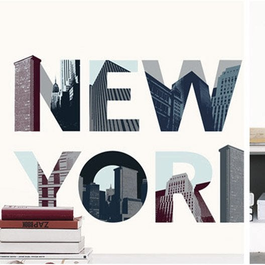 Sticker new york 49 cm x 69 cm leroy merlin - Cadre new york leroy merlin ...