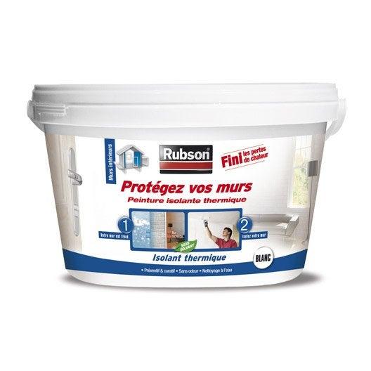 Peinture thermique prot gez vos murs rubson blanc 2 5 l leroy merlin - Peinture isolante thermique interieure ...