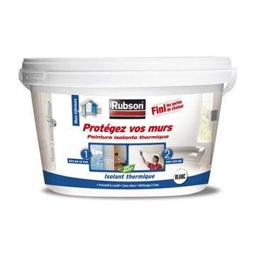Peinture thermique Protégez vos murs, RUBSON blanc 2.5 l
