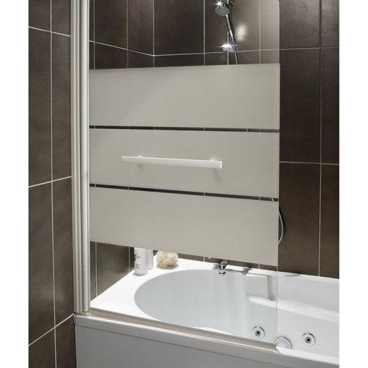 pare baignoire 1 volet optima 2 verre s curit 5 mm. Black Bedroom Furniture Sets. Home Design Ideas