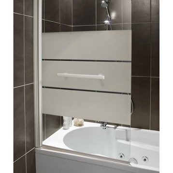 pare baignoire 1 volet optima 2 verre s curit 5 mm s rigraphi. Black Bedroom Furniture Sets. Home Design Ideas