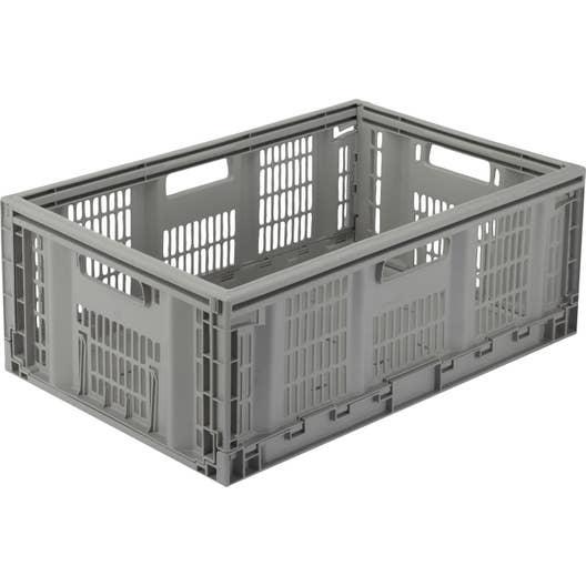 casier pliable teknika plastique x x cm leroy merlin. Black Bedroom Furniture Sets. Home Design Ideas