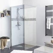Paroi de douche à l'italienne, l.90 cm verre fumé 6 mm Open 2 6mm