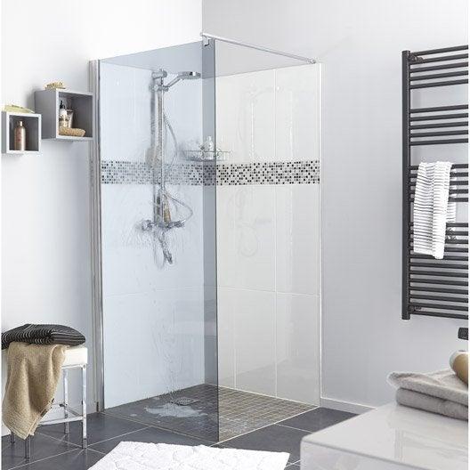 paroi de douche l 39 italienne open 2 6mm profil chrom. Black Bedroom Furniture Sets. Home Design Ideas